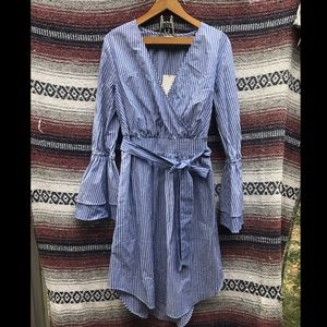 NWT A New Day Bell Sleeve Wrap Front Shirtdress: M